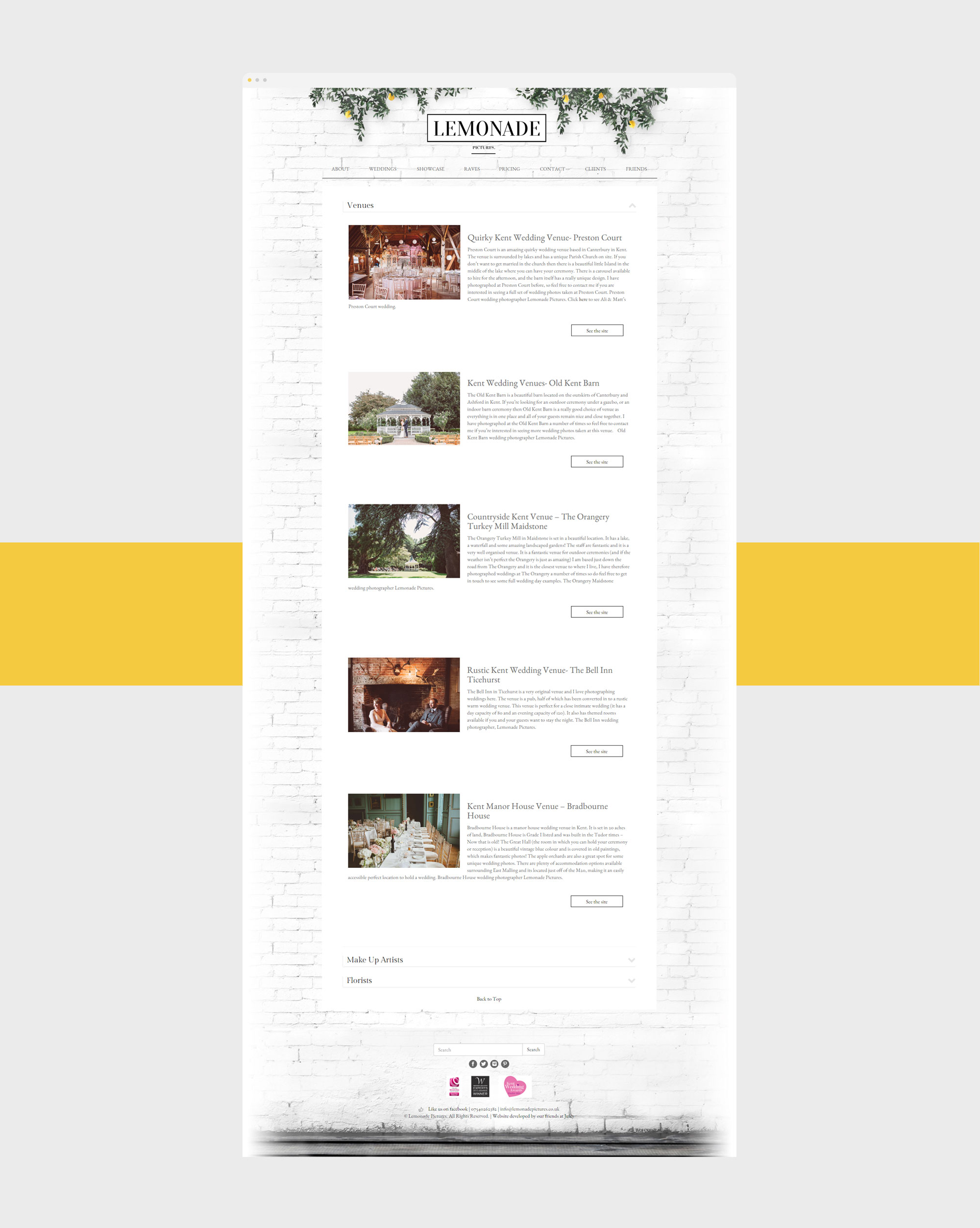 lemonade friends web design