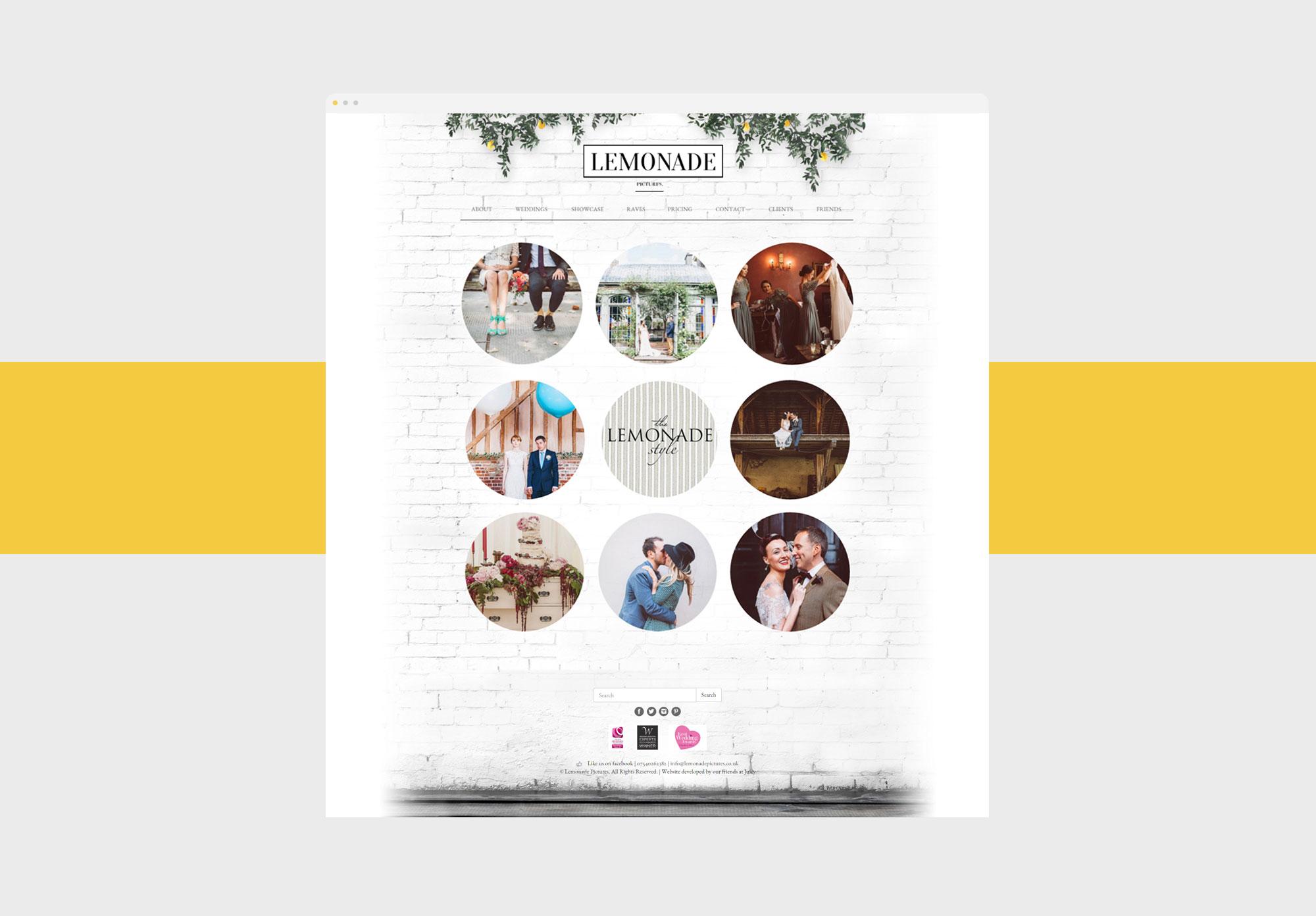 lemonade home web design