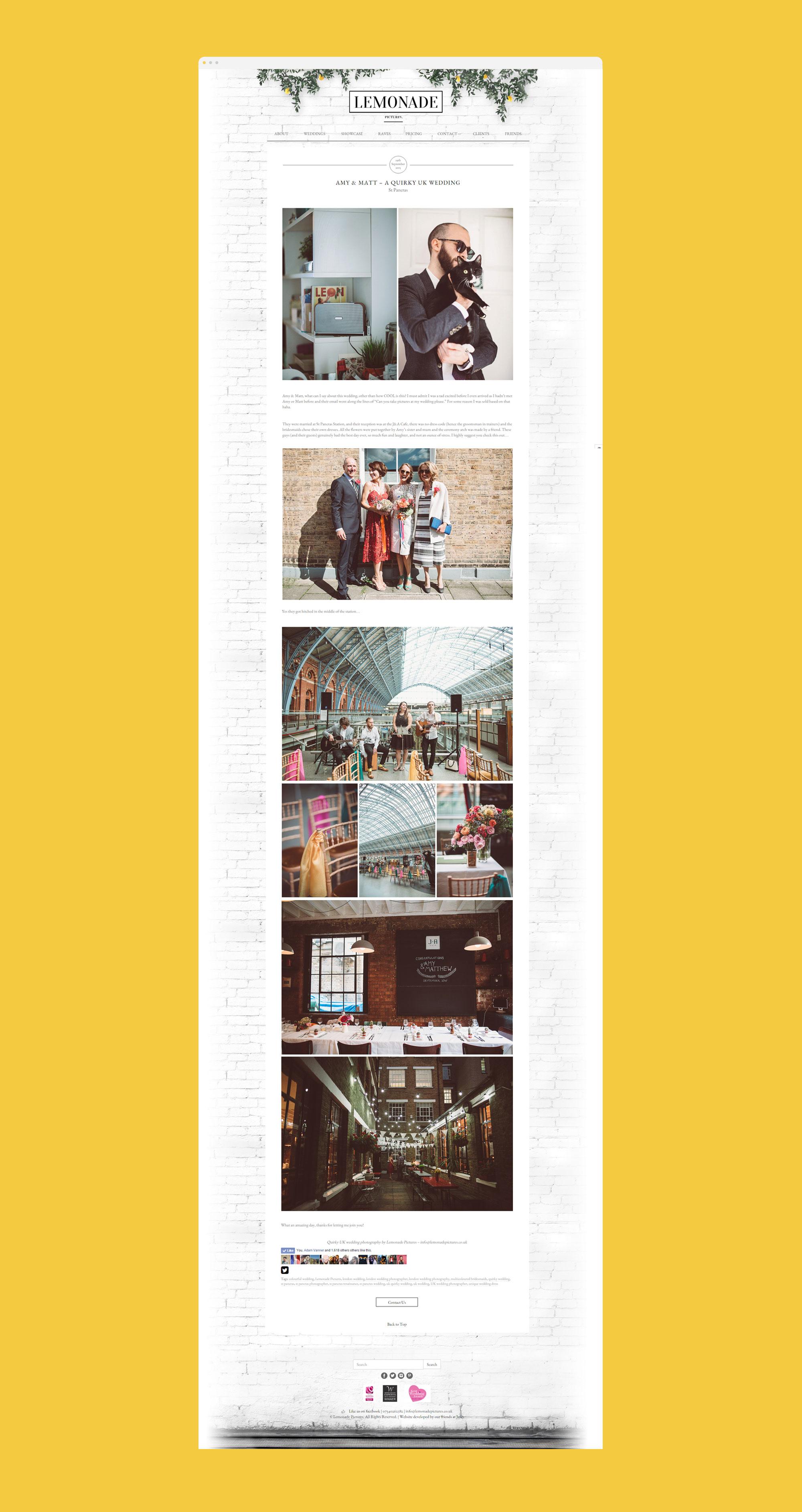 lemonade photos web design