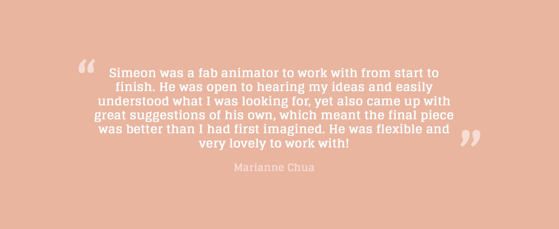 Marianne Chua testimonial