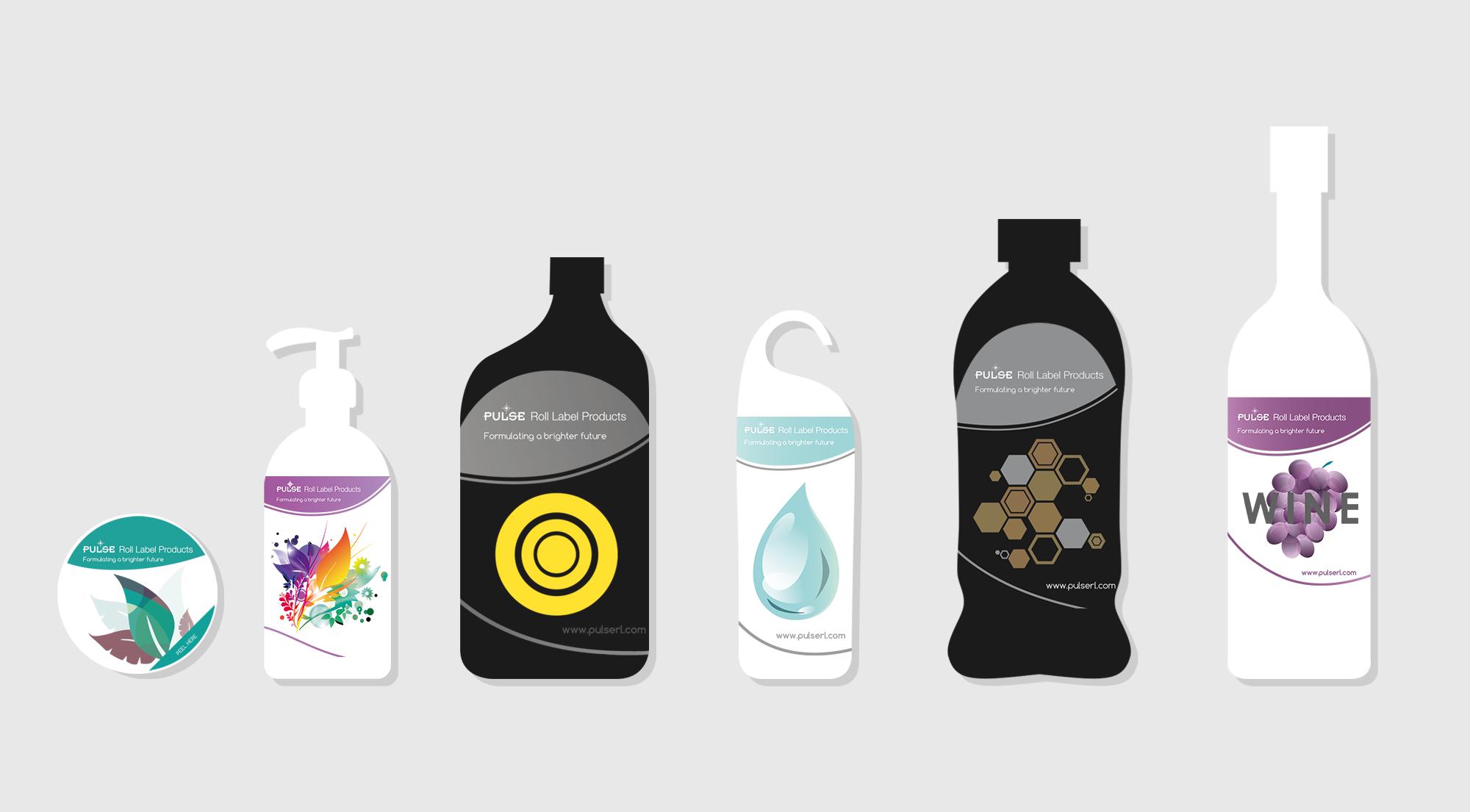 pulse label graphic design