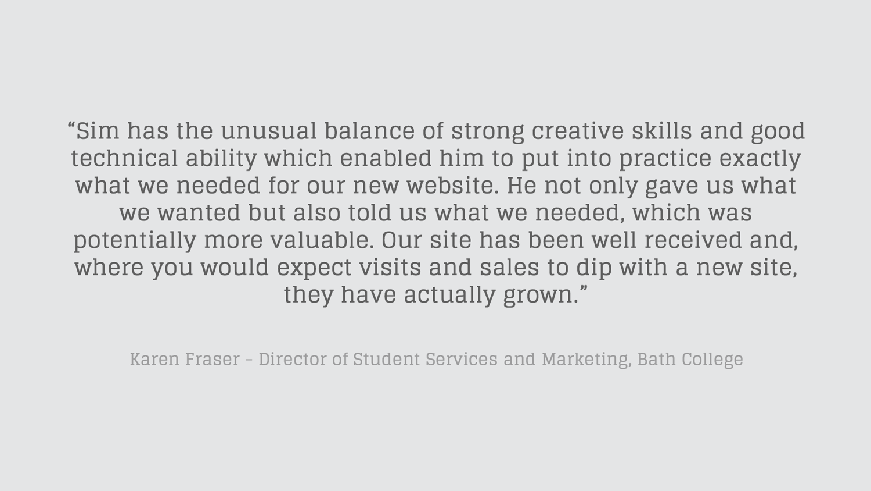 Bath College quote