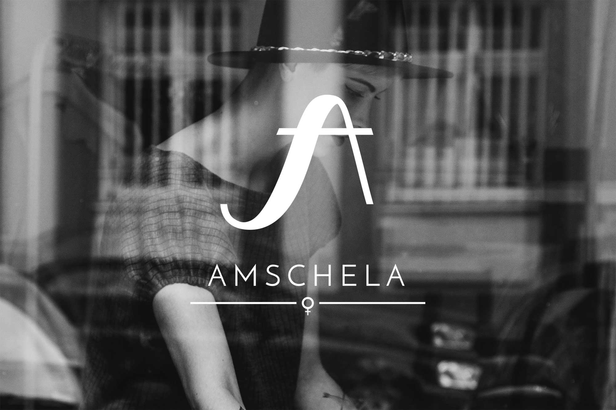 Amschela logo on background