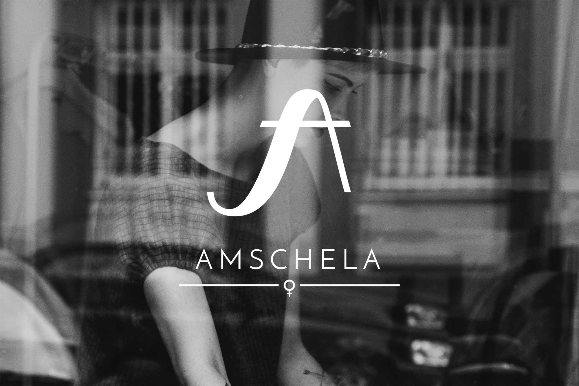 Amschela logo on background
