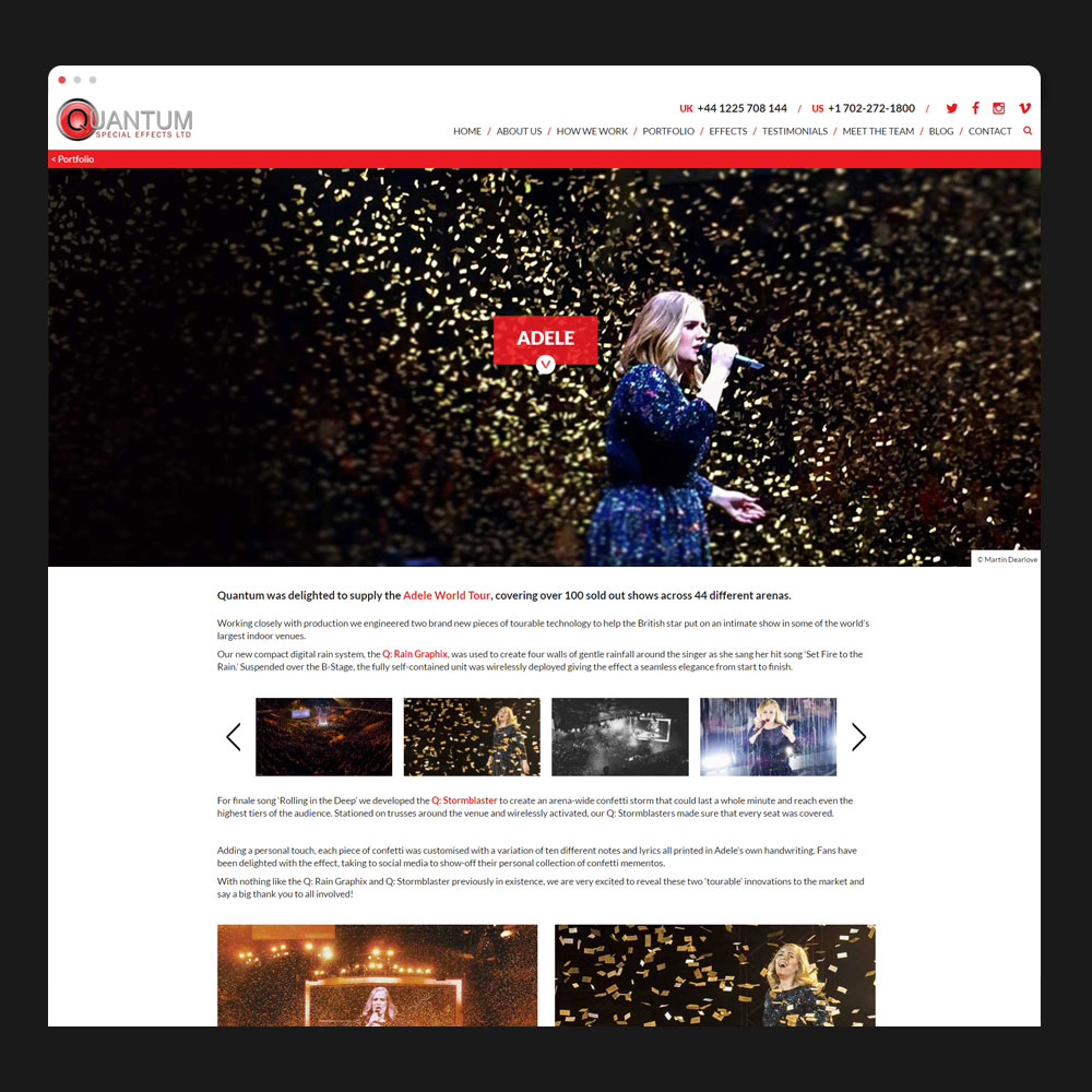 Quantum blog page design